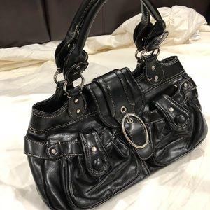 Black leather Mondani purse